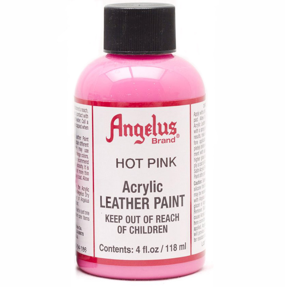 Angelus Leather Paint 4 Oz Hot Pink