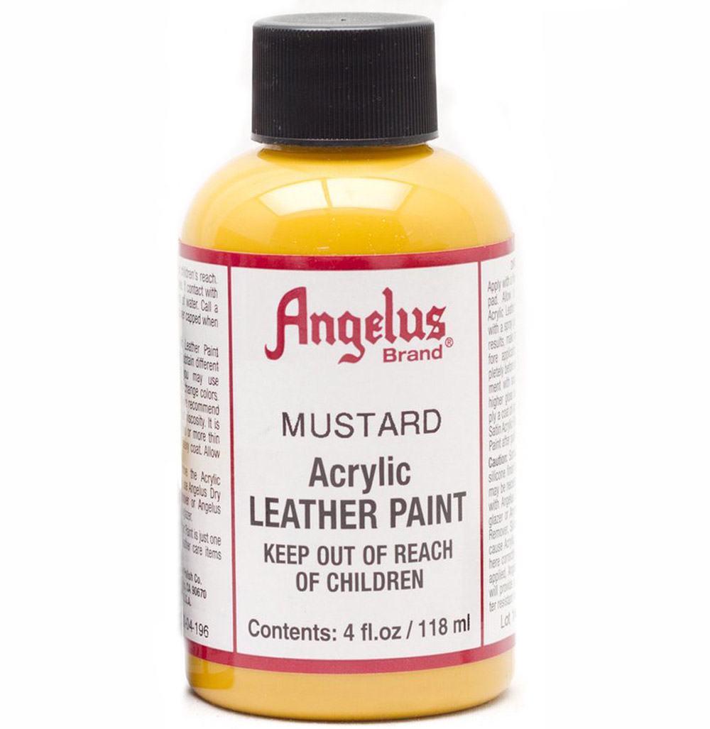 Angelus Leather Paint 4 Oz Mustard