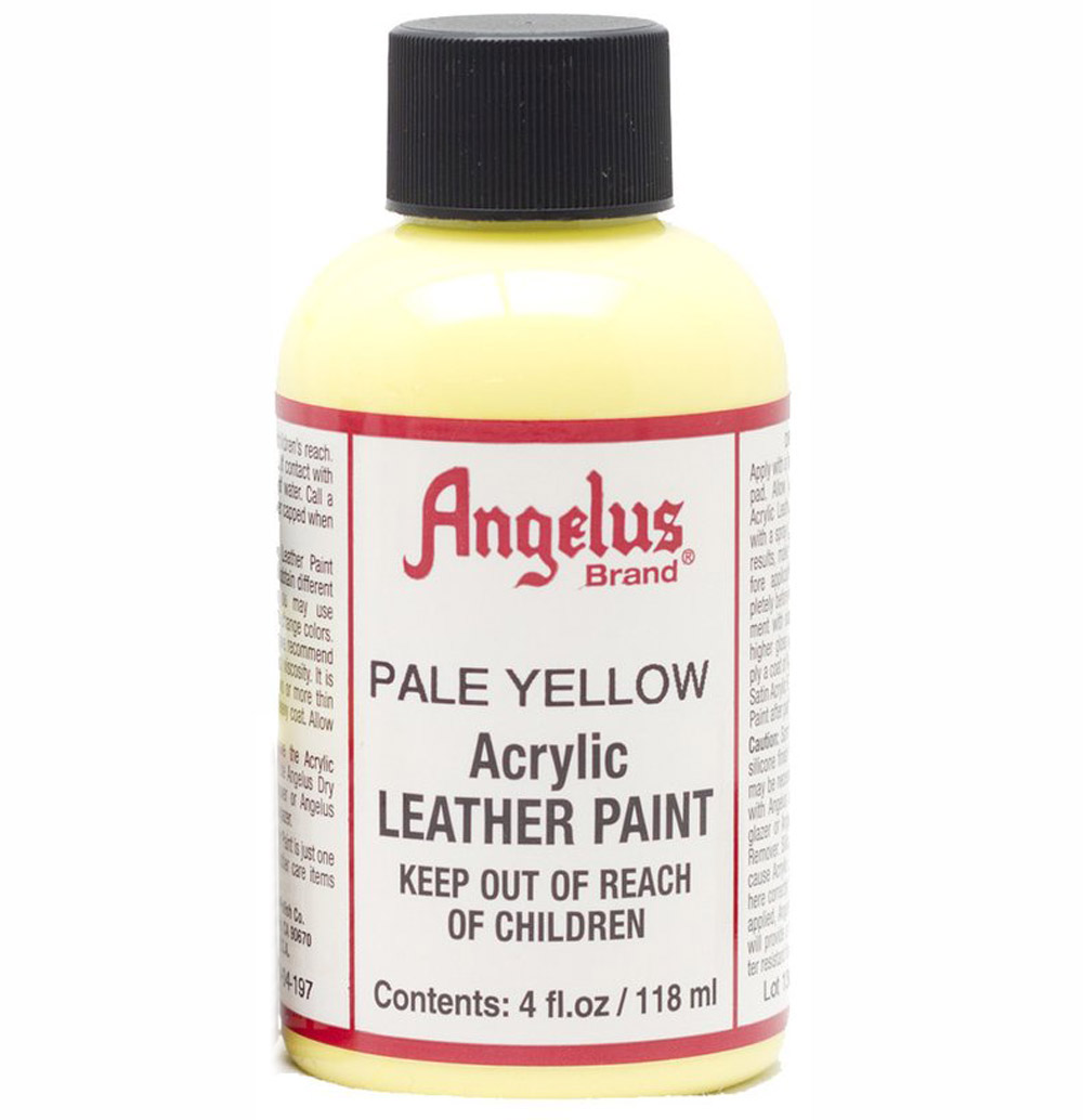 Angelus Leather Paint 4 oz Pale Yellow