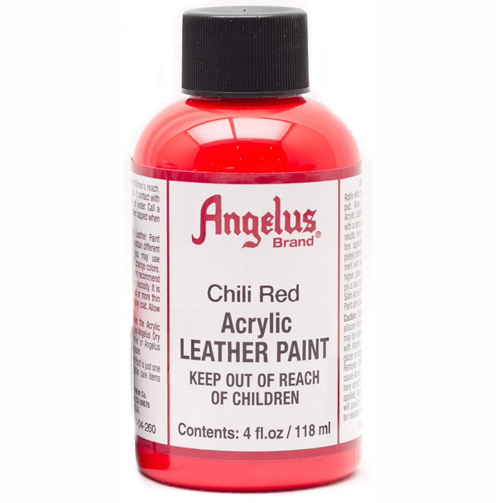 Angelus Leather Paint 4 Oz Chili Red