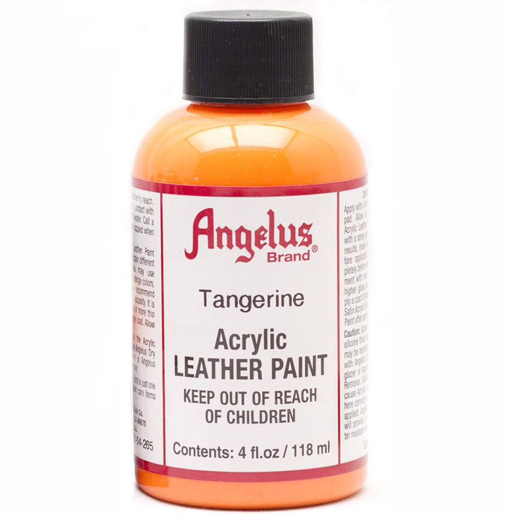 Angelus Leather Paint 4 Oz Tangerine