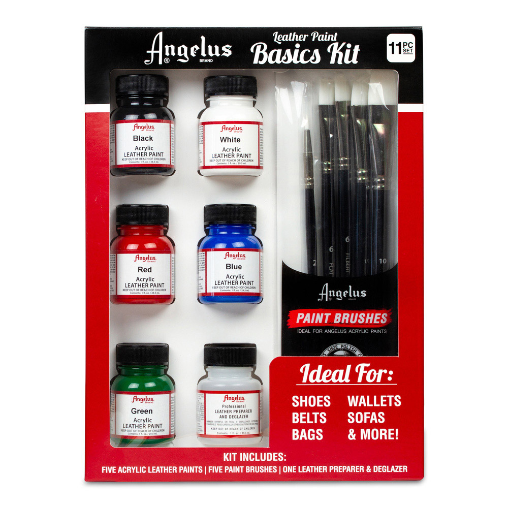 Angelus Leather Paint Basics 11 Piece Set