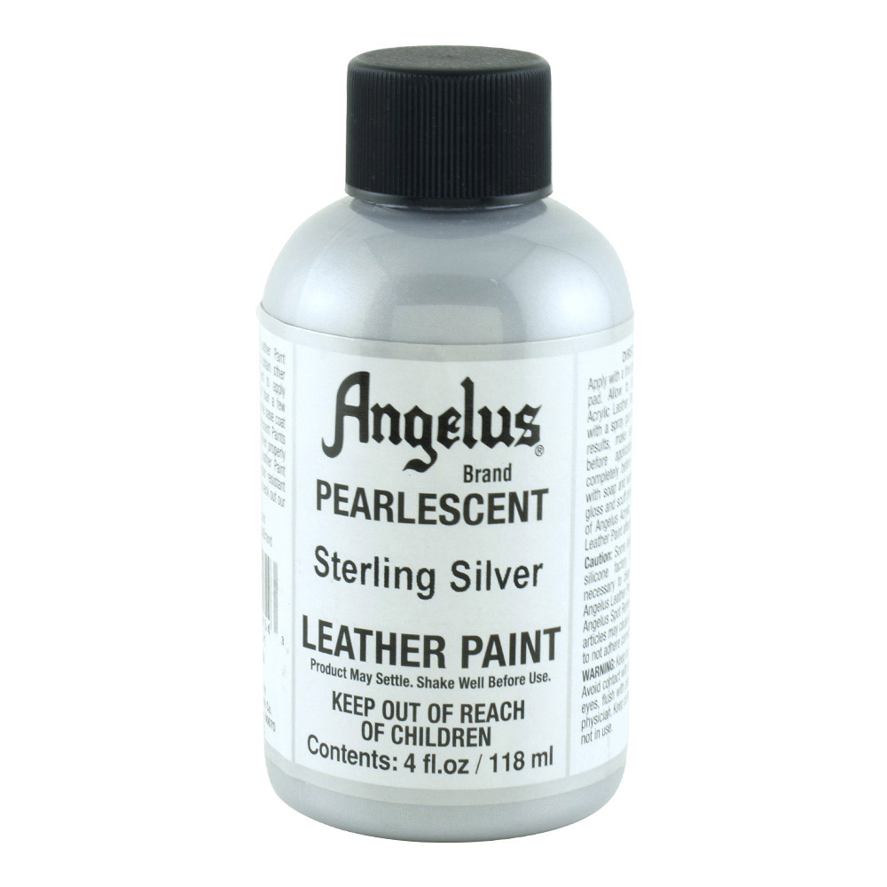 Angelus Leather Paint 4 Oz Pearl Sterl Silver