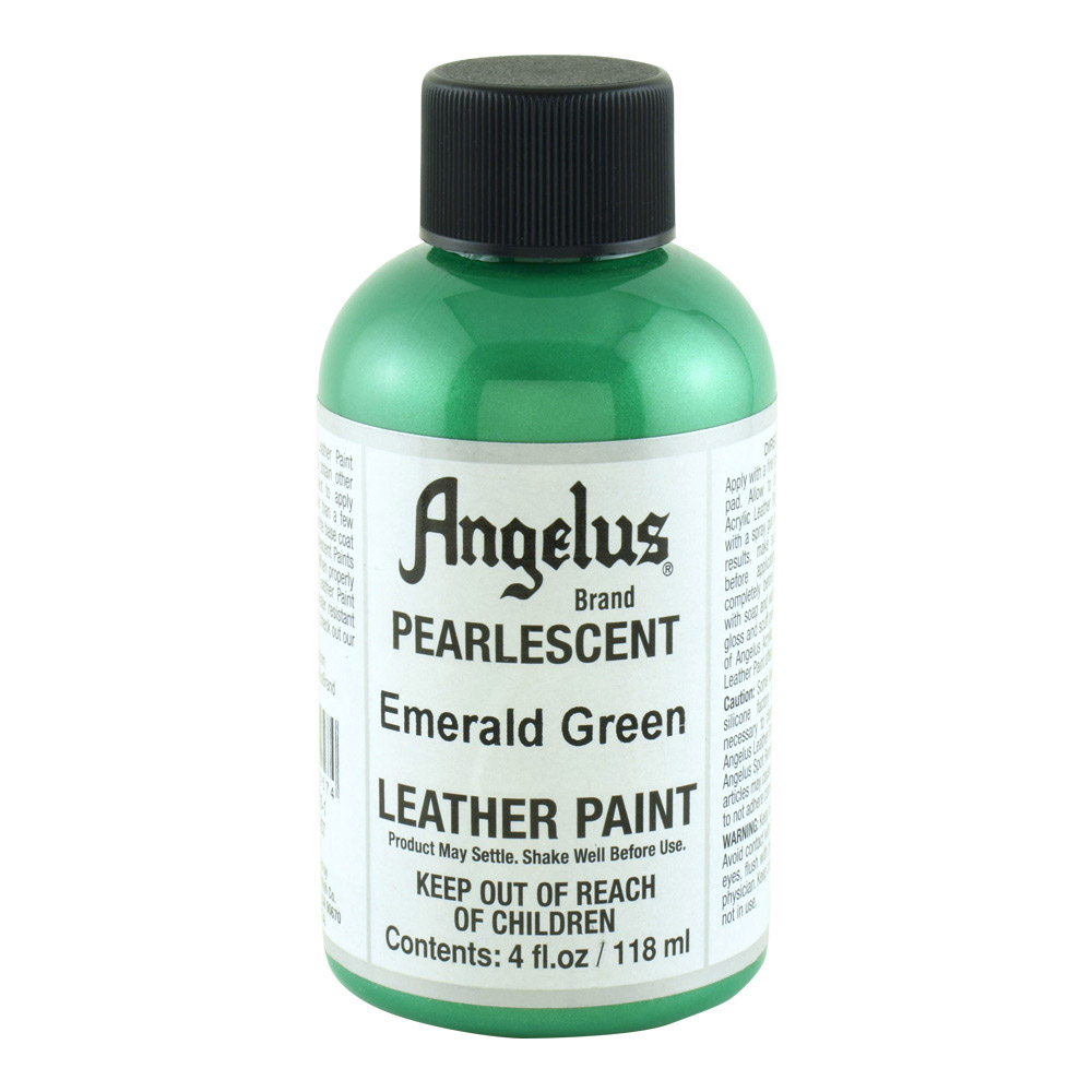 Angelus Leather Paint 4 Oz Pearl Emerld Green