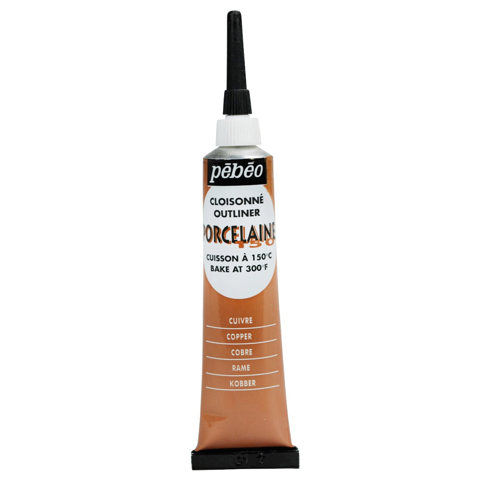 Pebeo Porcelaine Outliner 20Ml Copper