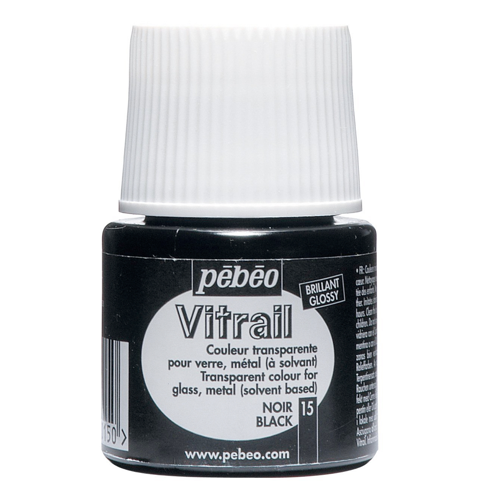 Pebeo Vitrail Glass Paint 45Ml Black