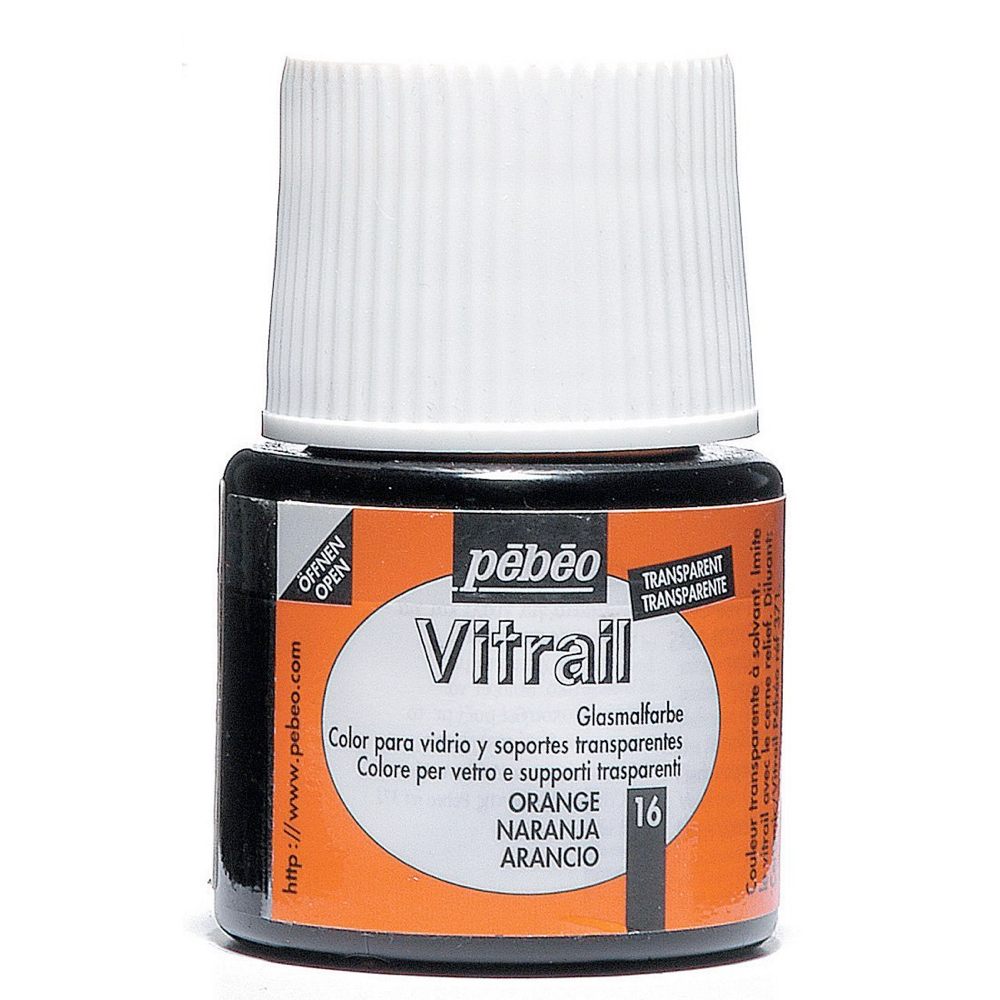 Pebeo Vitrail Glass Paint 45Ml Orange