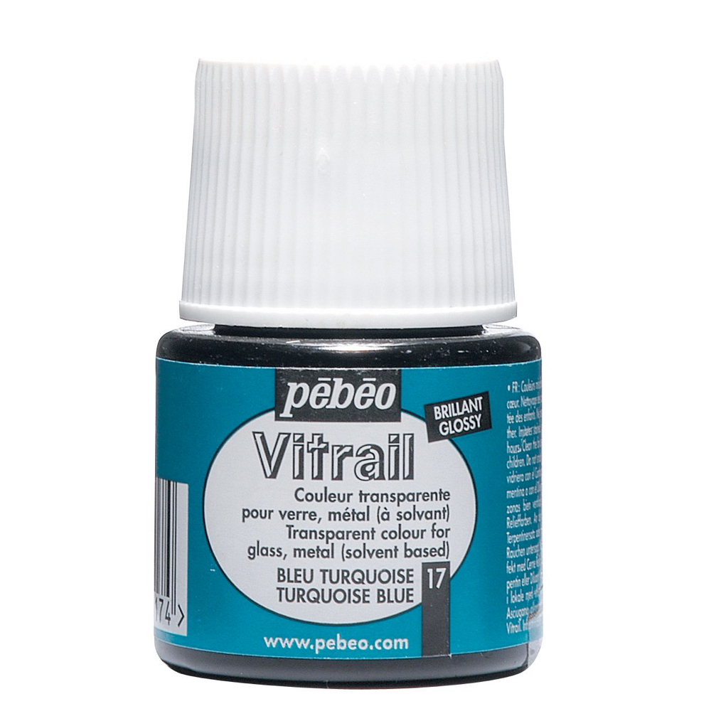 Pebeo Vitrail Glass Paint 45Ml Turquoise