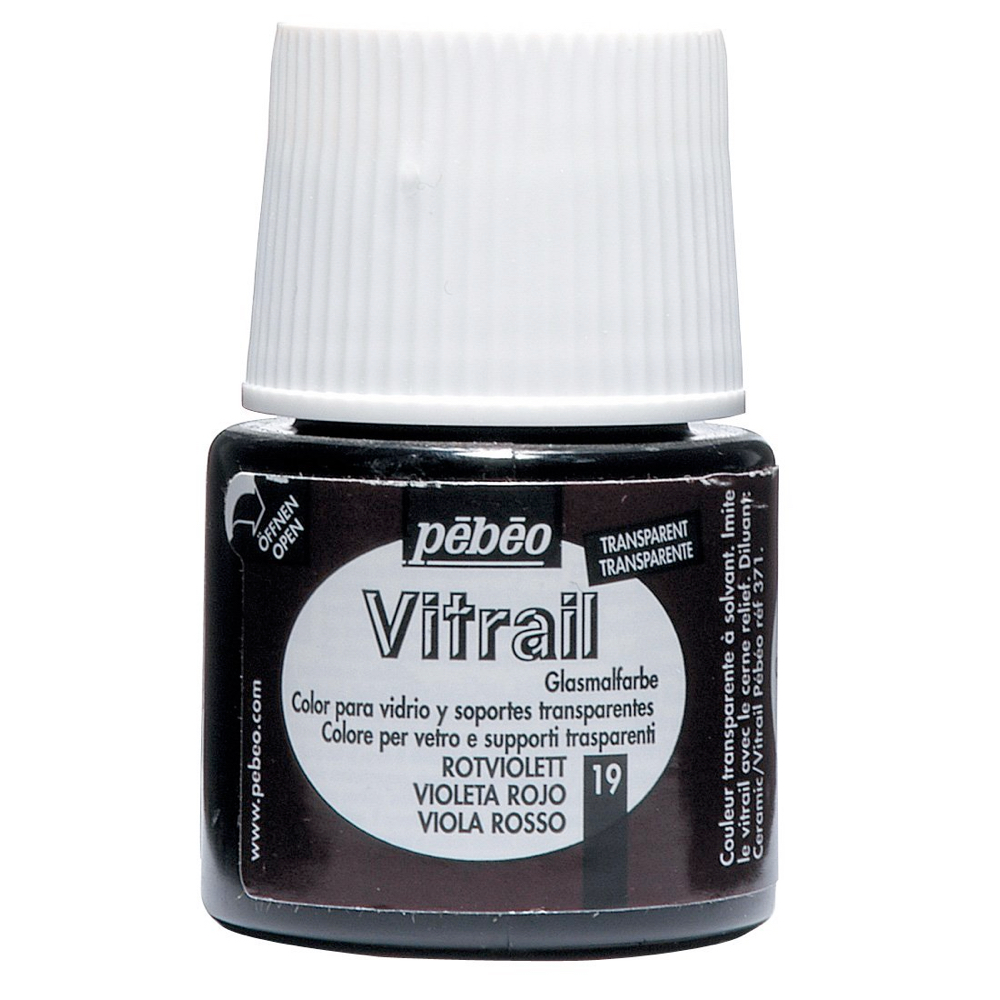 Pebeo Vitrail Glass Paint 45Ml Red Violet