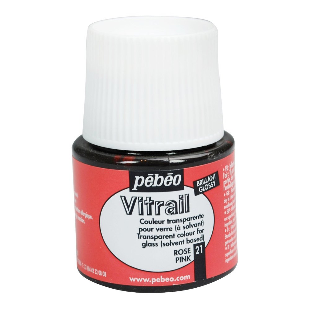 Pebeo Vitrail Glass Paint 45Ml Pink