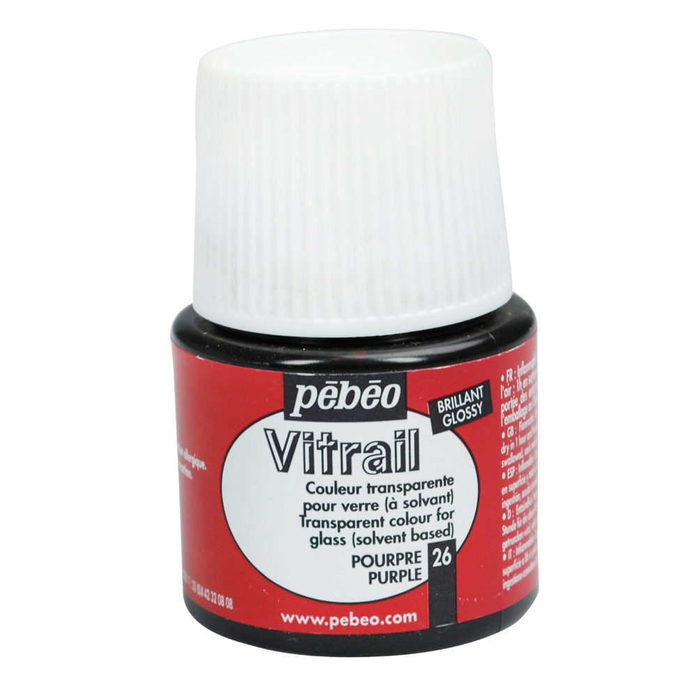 Pebeo Vitrail Glass Paint 45Ml Purple