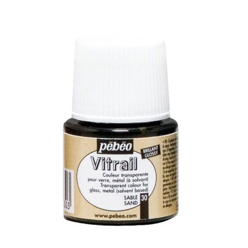 Pebeo Vitrail Glass Paint 45Ml Sand