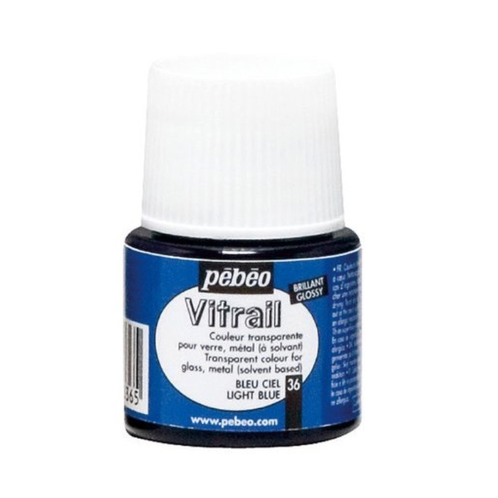 Pebeo Vitrail Glass Paint 45Ml Sky Blue