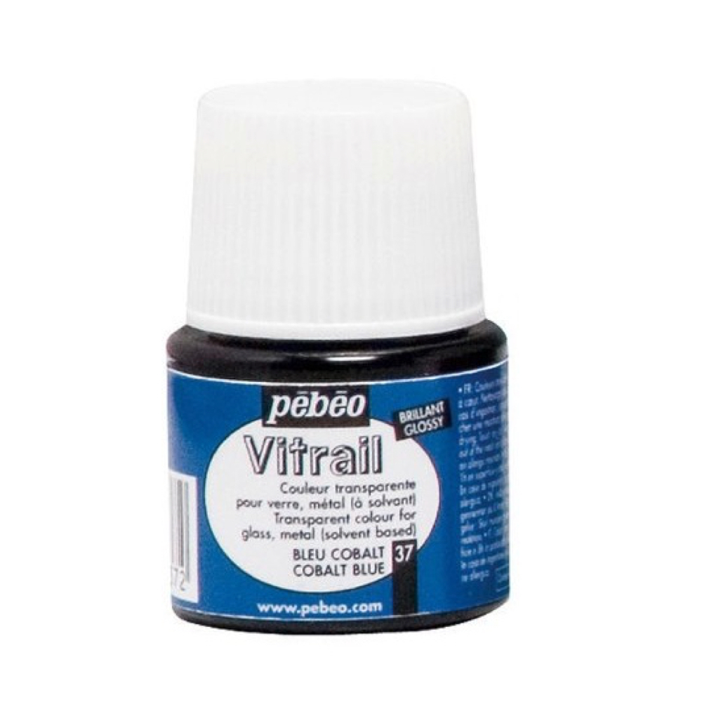 Pebeo Vitrail Glass Paint 45Ml Cobalt Blue