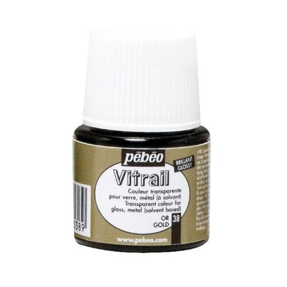 Pebeo Vitrail Glass Paint 45Ml Gold