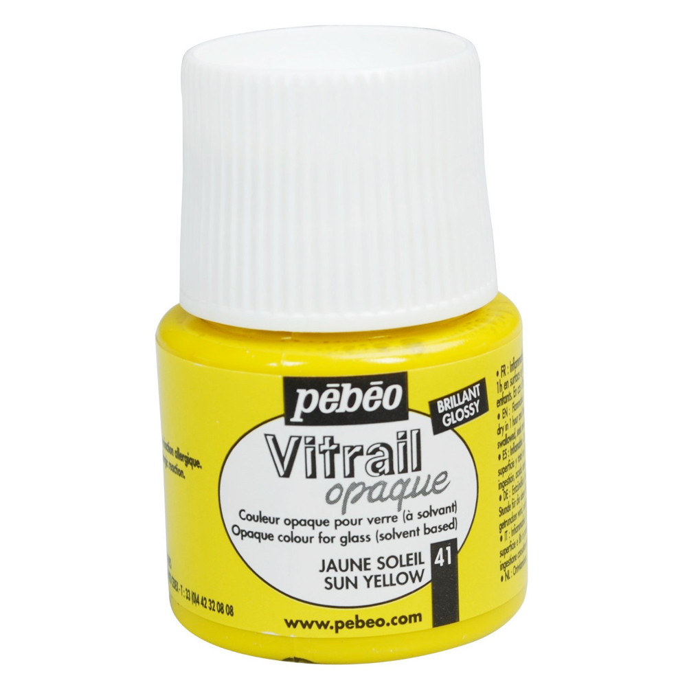 Pebeo Vitrail Glass Paint 45Ml Opq Sun Yellow