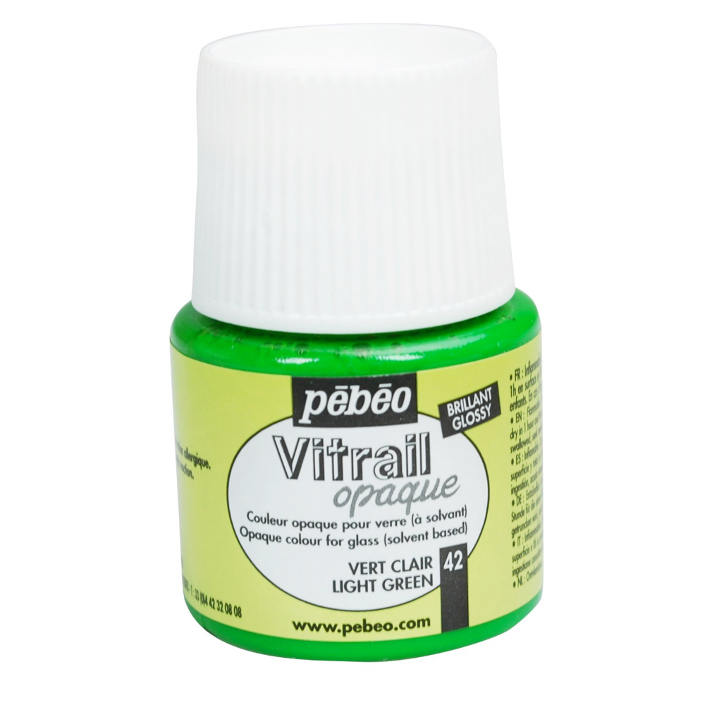 Pebeo Vitrail Glass Paint 45Ml Opq Lit Green