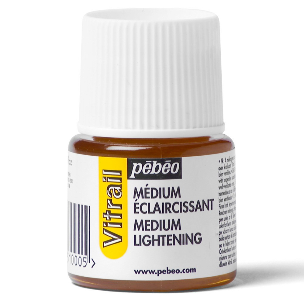 Pebeo Vitrail Glass Paint 45Ml Lightener Med