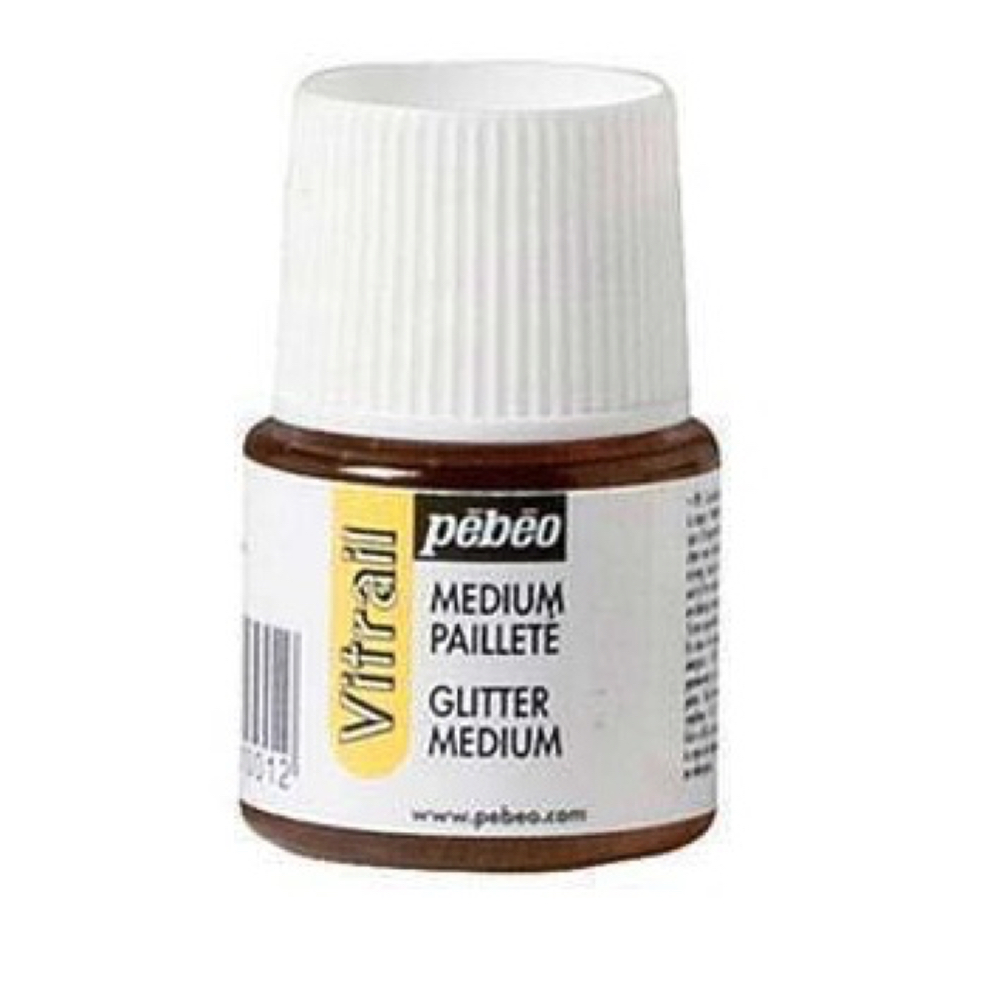 Pebeo Vitrail Glass Paint 45Ml Glitter Medium
