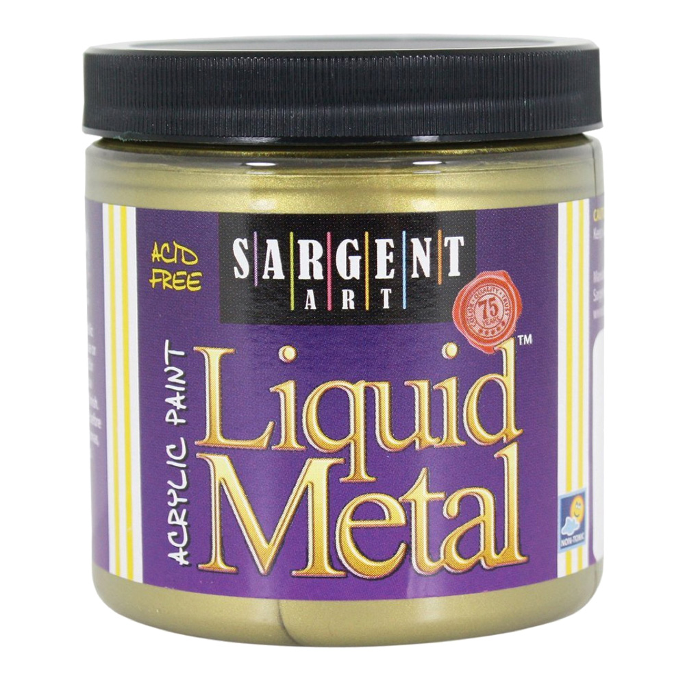 Liquid Metal Acrylic Paint 8 Oz Antique Gold