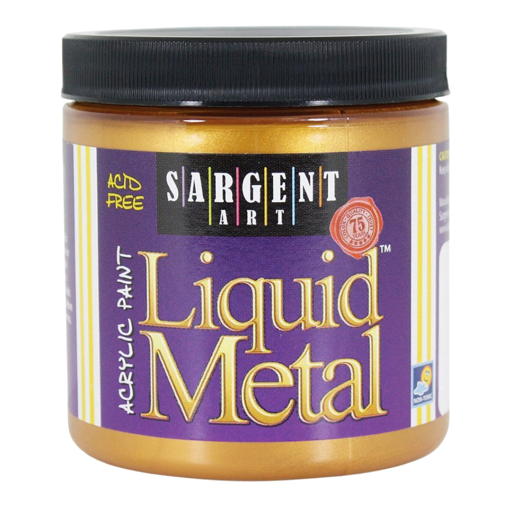 Liquid Metal Acrylic Paint 8 Oz Aztec Gold