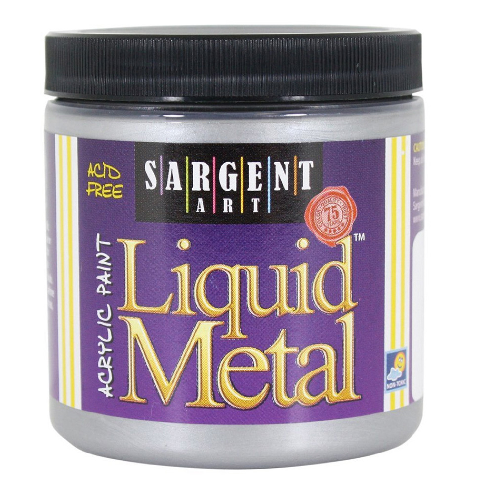 Liquid Metal Acrylic Paint 8 Oz Silver