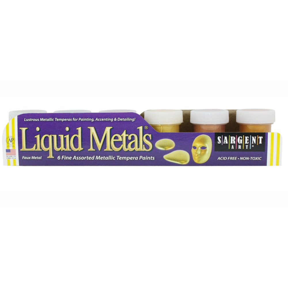 Liquid Metals Tempera 6-Color Set