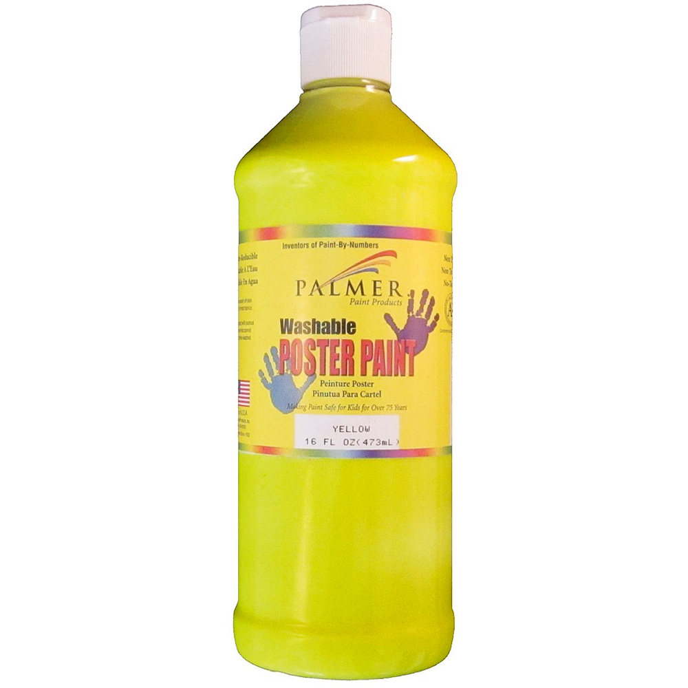 Washable Poster Paint 16 Oz Yellow