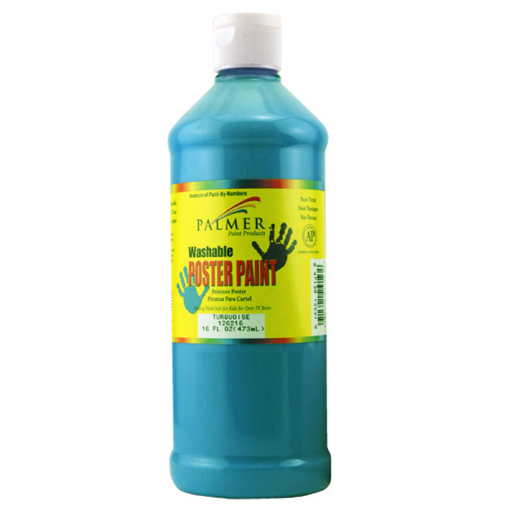 Washable Poster Paint 16 Oz Turquoise