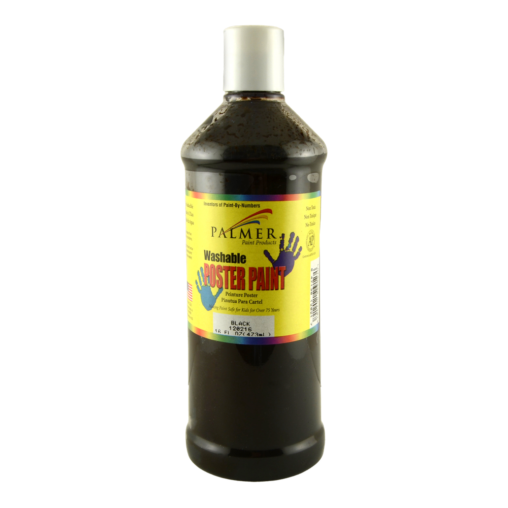 Washable Poster Paint 16 Oz Black
