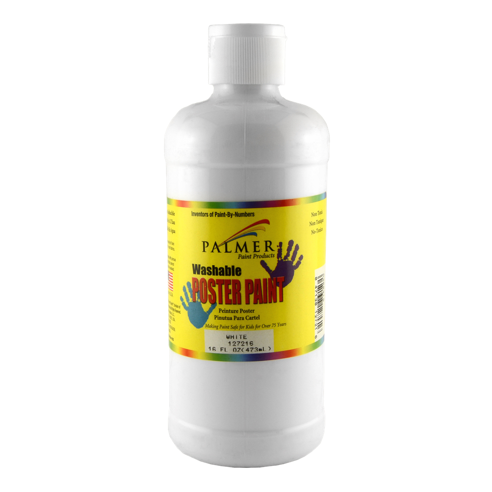 Washable Poster Paint 16 Oz White