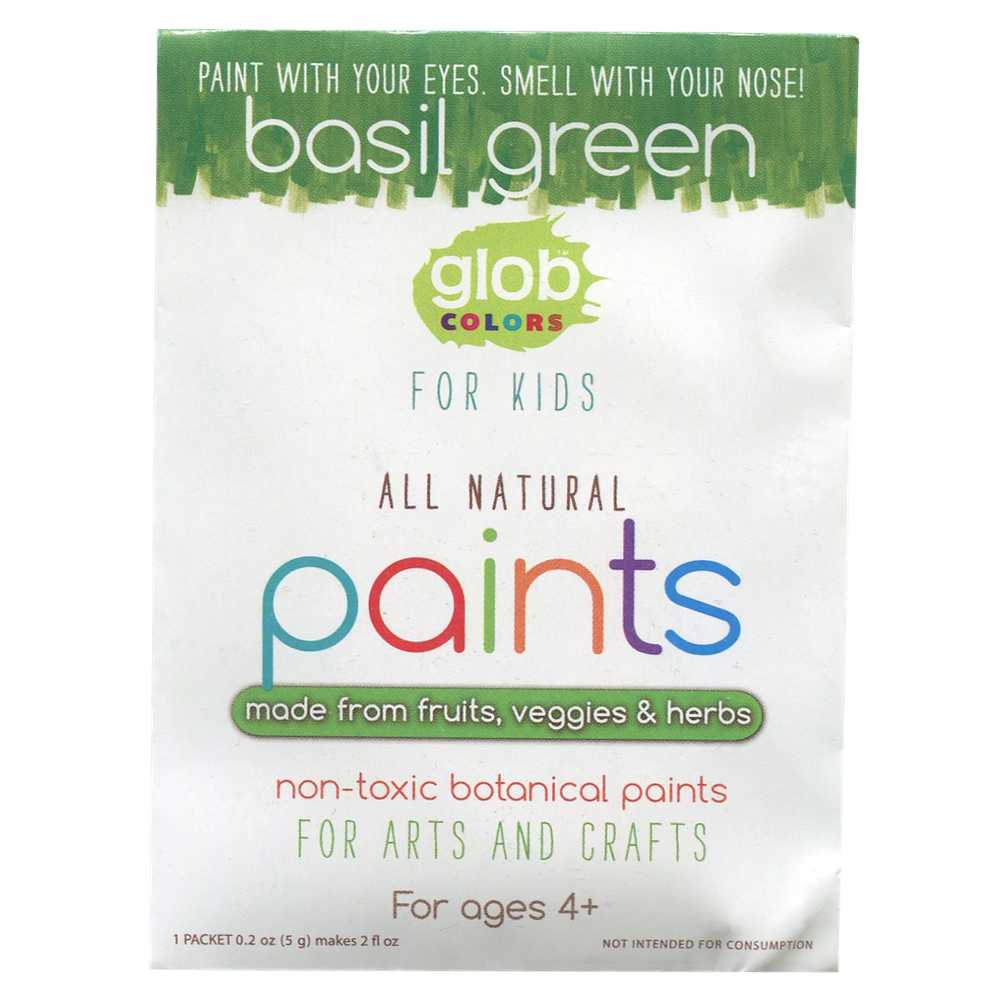 Glob Natural Paint 2Oz Packet Basil Green