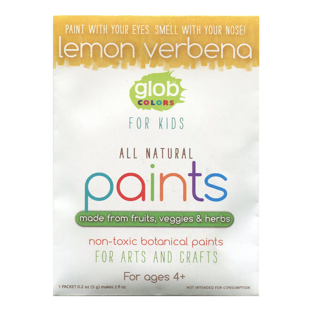Glob Natural Paint 2Oz Packet Lemon Verbena