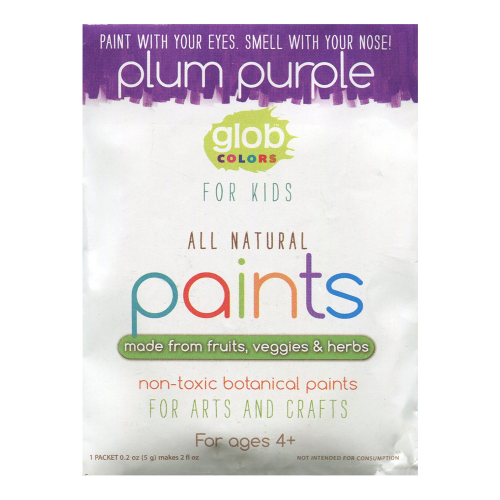 Glob Natural Paint 2Oz Packet Plum Purple