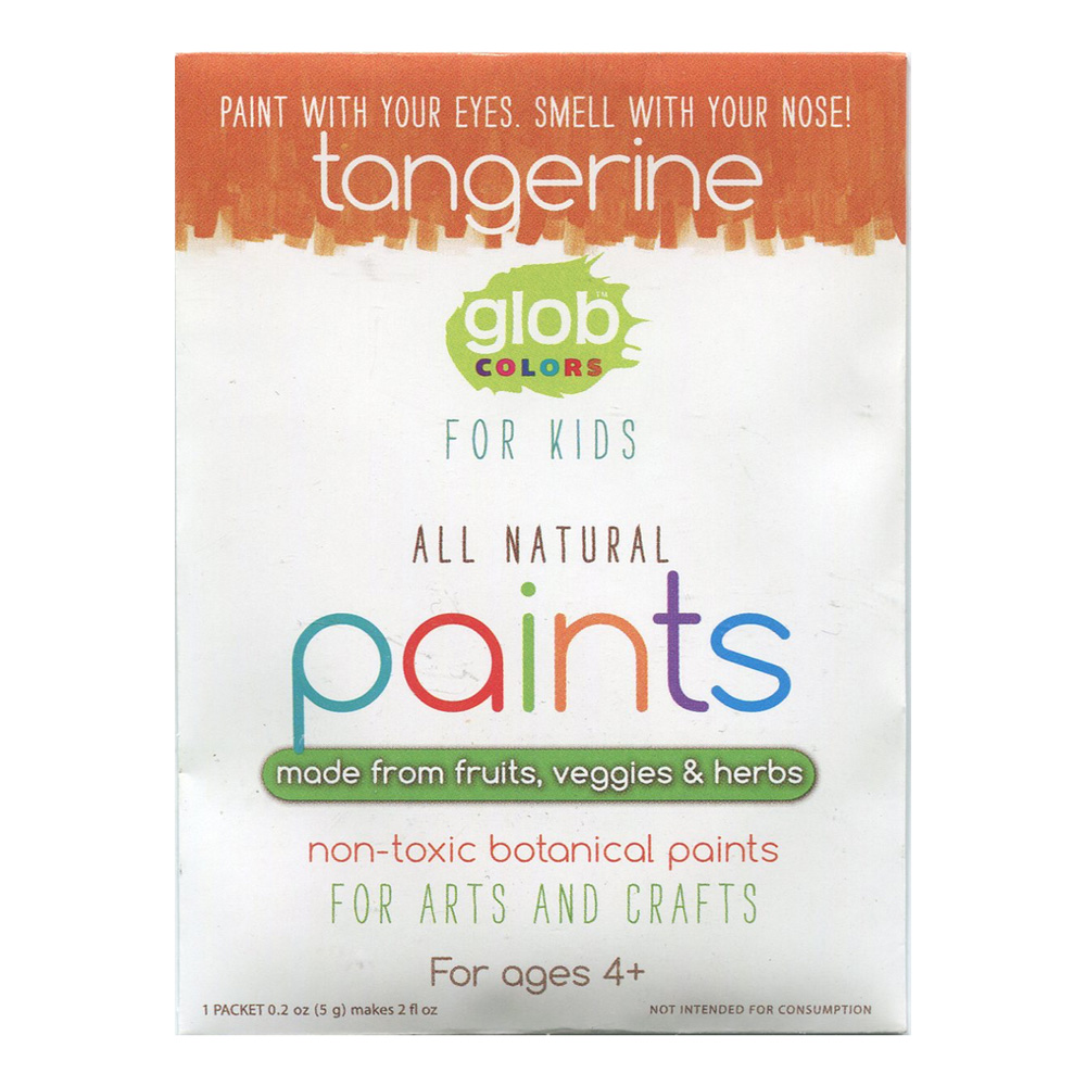 Glob Natural Paint 2Oz Packet Tangerine