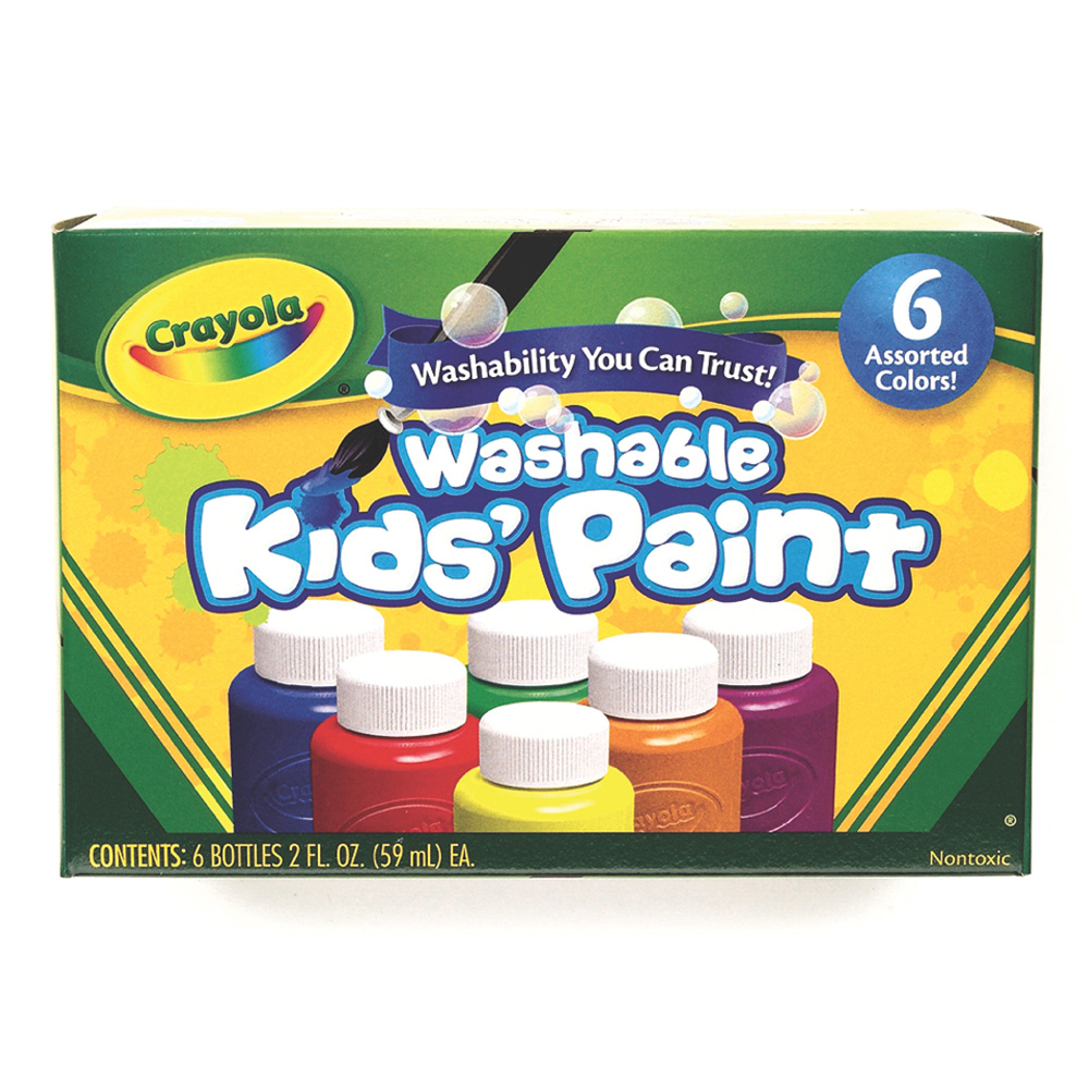 Crayola Washable Kids Paint 20Z Set Of 6