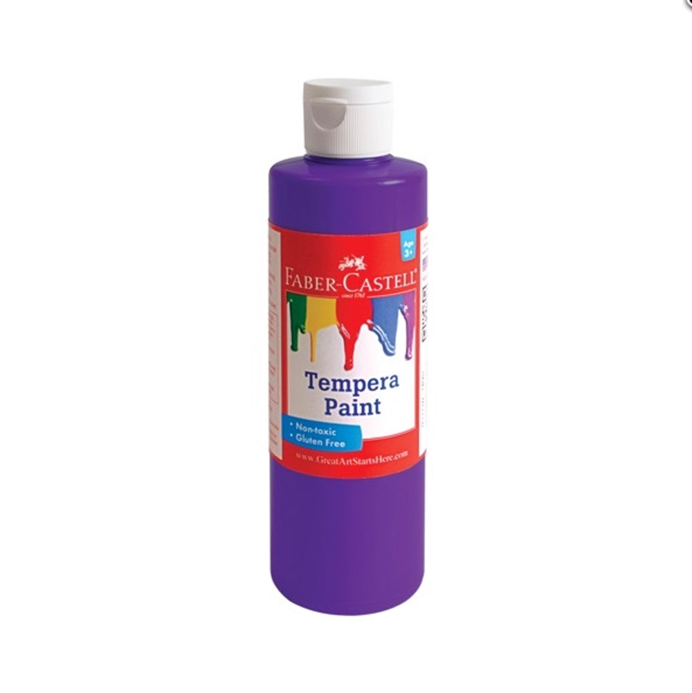 Faber-Castell Tempera Paint 8 Oz Purple
