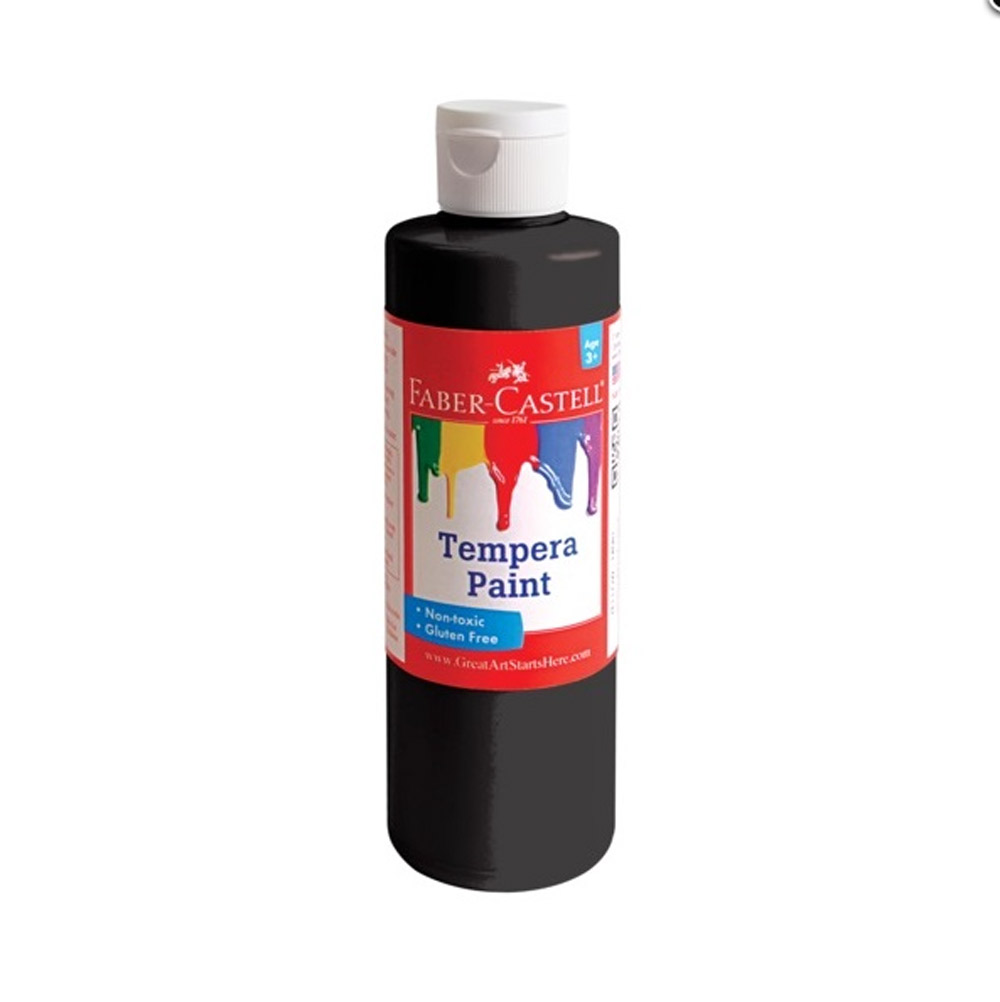 Faber-Castell Tempera Paint 8 Oz Black