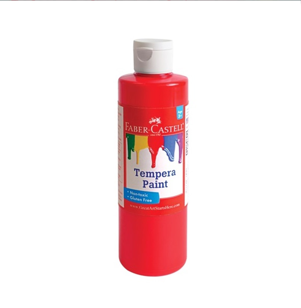 Faber-Castell Tempera Paint 8 Oz Red