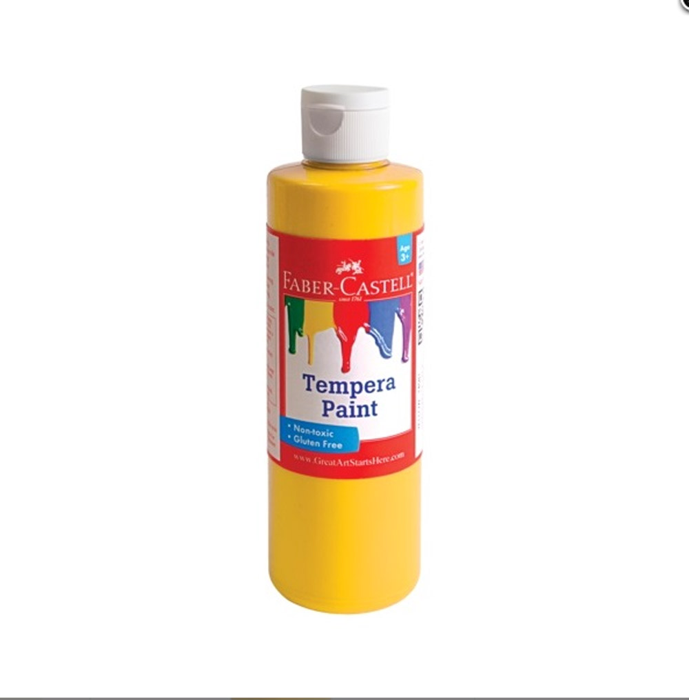 Faber-Castell Tempera Paint 8 Oz Yellow