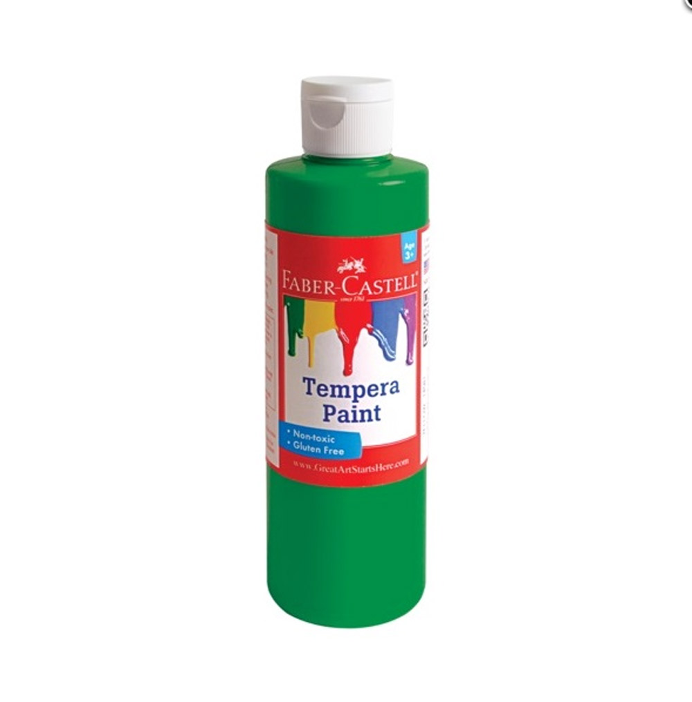 Faber-Castell Tempera Paint 8 Oz Green