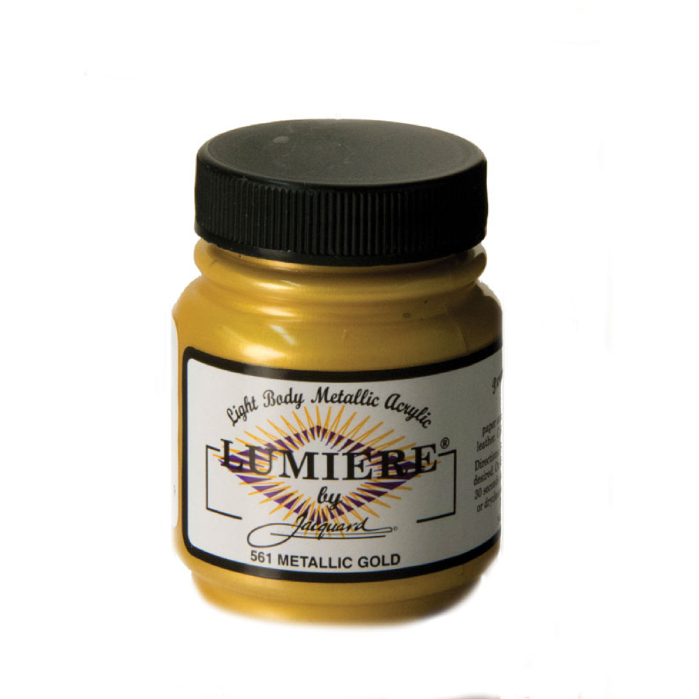 Jacquard Lumiere Paint Metallic Gold 2.25Oz