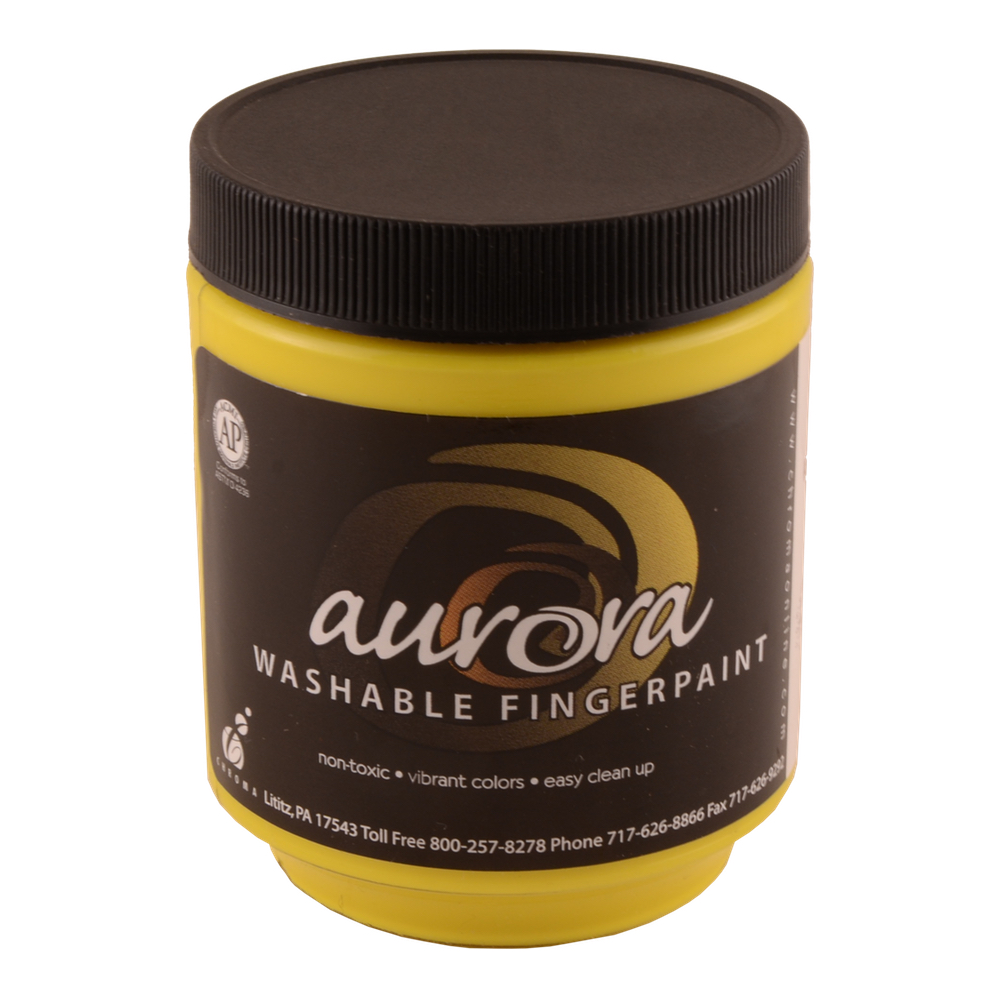 Chroma Aurora Fingerpaint 8 Oz Yellow