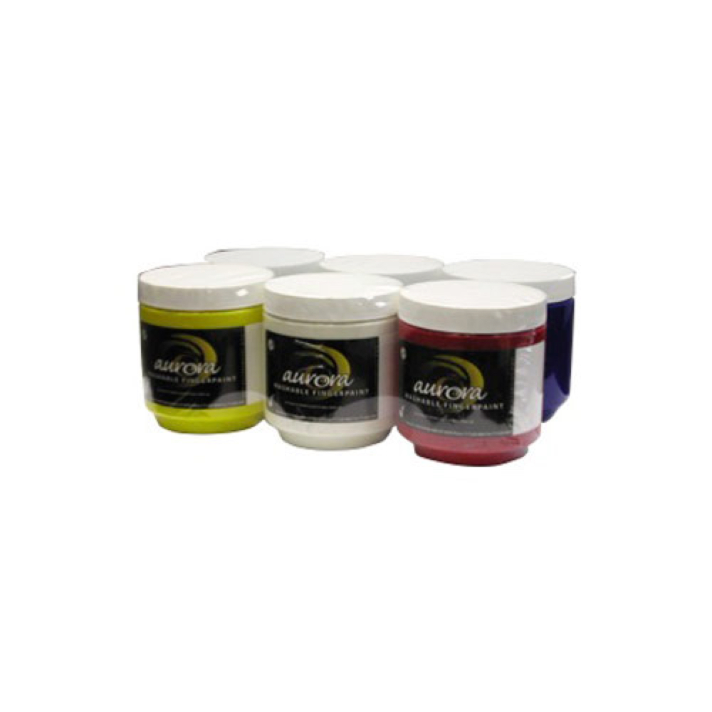 Chroma Aurora Fingerpaint 16 Oz Set/6