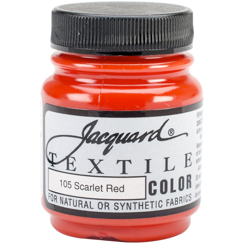 Jacquard Textile Paint 2.25 Oz Scarlet Red