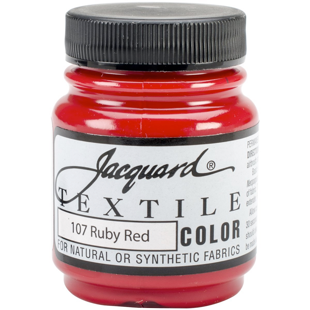 Jacquard Textile Paint 2.25 Oz Ruby Red