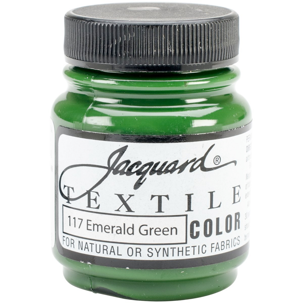 Jacquard Textile Paint 2.25 Oz Emerald Green