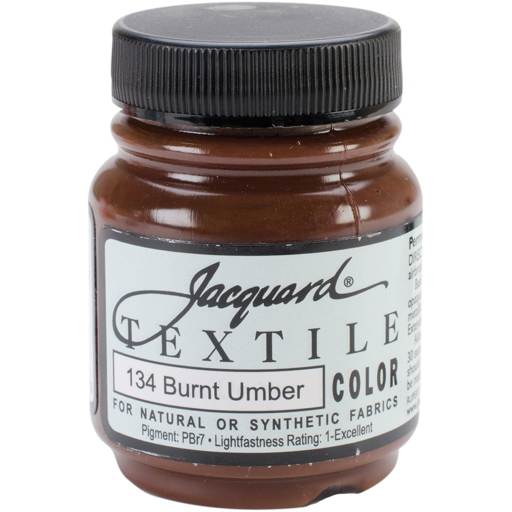 Jacquard Textile Paint 2.25 Oz Burnt Umber