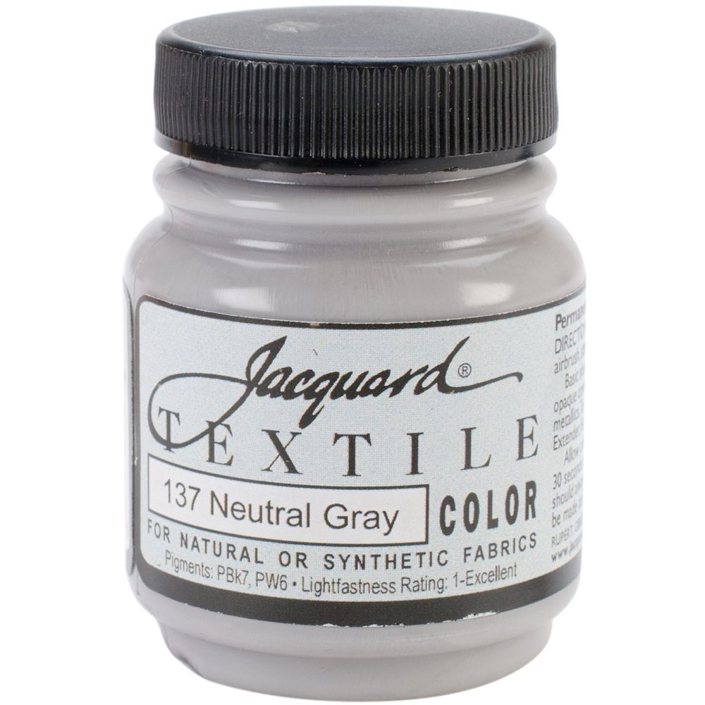 Jacquard Textile Paint 2.25 Oz Neutral Gray