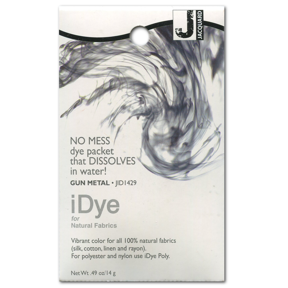 Jacquard Idye Natural Fabric: Gun Metal